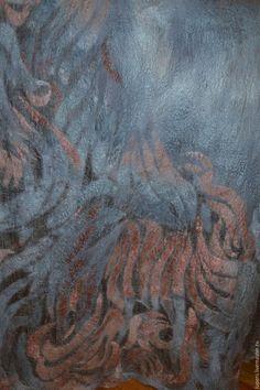 """Шали, палантины ручной работы. Ярмарка Мастеров - ручная работа. Купить Палантин """"Цветок османтуса"""". Handmade. Абстрактный, небесно-голубой"""