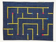 Sensory Cloth Tactile maze for Alzheimer or dementia patients.