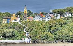 The Italianate village of Portmeirion in Wales, used as a location for cult TV series The ...