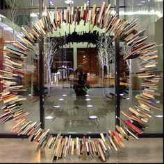 Will 'future school' /'future library' be an experience or a place?  What a great piece of book art!