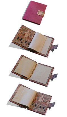Bookbinding & Handcrafted by Michael R Cooke, via Behance (love the robert morris endfabric.