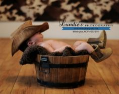 Newborn Photography Baby Cowboy by Eva