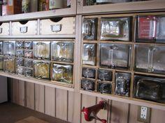 vintage scandinavian spice drawers