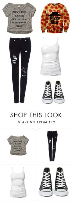 """sammi, jinxx, and my clothes"" by mplymale ❤ liked on Polyvore featuring Hollister Co., Pull&Bear, James Perse and Converse"