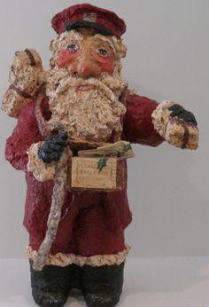 Santa Claus Figurine Mailman Bringing Your by DessieFullTimeArtist, $89.00