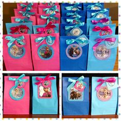 Frozen theme# favor bags# www.myshowerbox.com