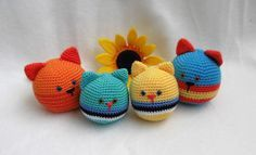 Kirju Mirju käsitöö.: Cat stressball.Free pattern.