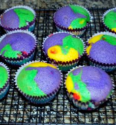 Warm Rainbow Cupcakes » Best Cupcake Pins