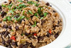 Black Beans and Rice Moros y Cristianos | Sticky, Gooey, Creamy, Chewy | A Blog About Food with a Little Life Stirred In
