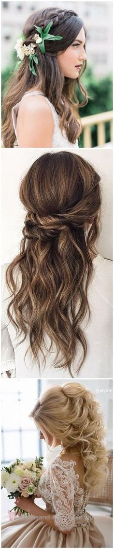 Outstanding Wedding Hairstyles » 22 Half Up and Half Down Wedding Hairstyles to Get You Inspired »   ❤️ See more:  www.weddinginclud…  The post  Wedding Hairstyles » 22 Half Up  ..