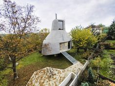 House in the Orchard: An Otherworldly Minimalist Retreat in Prague - Architizer Architecture Office, Architecture Design, Sauna House, Modular Housing, Sauna Design, House Of The Rising Sun, Micro House, Tiny House Design, Inspired Homes