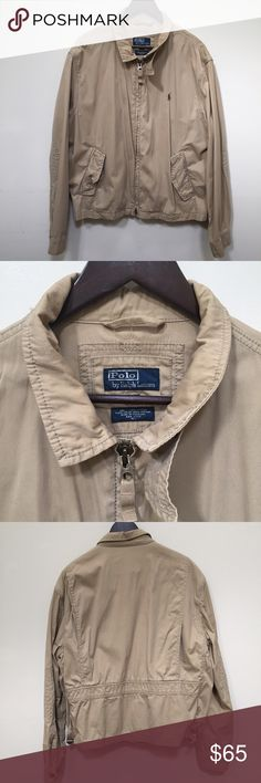 Polo by Ralph Lauren Jacket Price Firm Polo by Ralph Lauren Windbreaker Bomber Jacket! Great detailing! Lightweight!  Tiny mark on back of jacket. See photo 5. Questions please ask! Polo by Ralph Lauren Jackets & Coats Bomber & Varsity