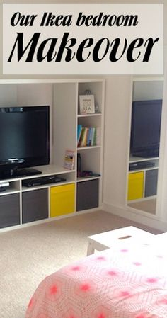 Our bedroom was a mess! So I did an Ikea makeover - now I can relax. It's like I have a cinema in the bedroom!