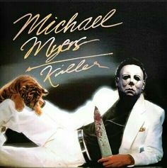 Michael Myers re-imaged upon Michael Jackson's Thriller album. Halloween Film, Halloween Horror, Halloween Meme, Halloween Ideas, Horror Movie Characters, Horror Movies, Slasher Movies, Horror Art, Dark Beauty