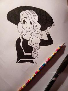 Black and white girl/černo-bílá dívka