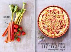 Kynuty_kolac_rebarbora_jahody Vegetable Pizza, Quiche, Cake Recipes, Cooking Recipes, Baking, Vegetables, Breakfast, Sweet, Food