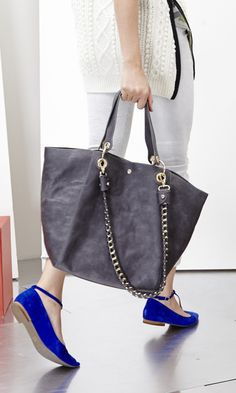 Work, play, weekend, wherever: This roomy and luxurious tote is coming along.