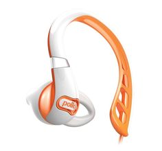 Polk Audio UltraFit 500 Mid-Flange Earphones (White/Orange) 11/20/13 use coupon code DAILYDEAL for special price
