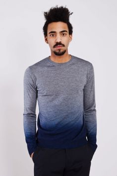 Jill Sander Thin Crewneck Faded Grey / Blue. Somebody find me some dye i gots to make my own ombre