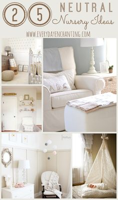 Keeping baby's gender a surprise? Find neutral decor inspiration from Everyday Enchanting's roundup of 25 Neutral Nursery Ideas!