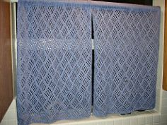 Amazing Ravelry: Dappled Lace Café Curtain Pattern By Knit Picks Design Team