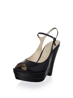 Pura López Women's Mary Jane Wedge (Negro)