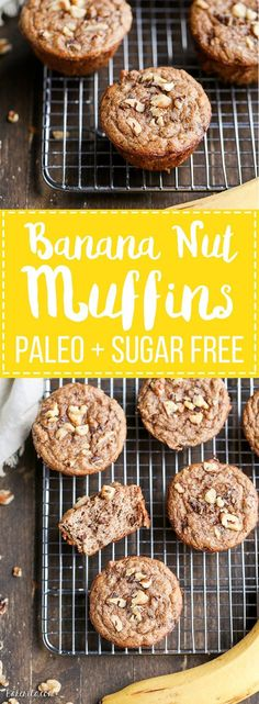 Lower Excess Fat Rooster Recipes That Basically Prime You Would Never Guess That These Paleo Banana Nut Muffins Have No Added Sugar - All The Sweetness Comes From The Bananas These Gluten-Free Muffins Make A Great Breakfast Or Snack. Paleo Sweets, Paleo Dessert, Gluten Free Desserts, Gluten Free Recipes, Healthy Recipes, Paleo Muffin Recipes, Diabetic Desserts, Flour Recipes, Breakfast And Brunch