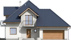 DOM.PL™ - Projekt domu ARD Kasztan 2 paliwo stałe CE - DOM RD1-60 - gotowy koszt budowy Design Case, Window Design, Malaga, My House, Beautiful Homes, Villa, Outdoor Structures, Cabin, House Design