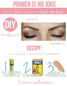 Make your own eye shadow primer! This stuff REALLY works!