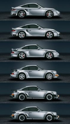 The evolution of the Porsche.