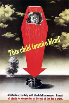 This Child Found a 'Blind'. (1943)  Yikes!