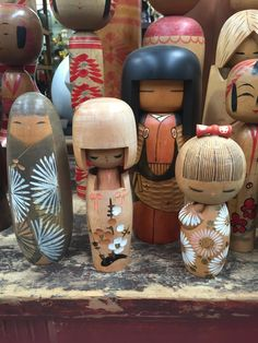 Our Gorgeous Kokeshi dolls! always plenty in stock. Vintage all the way from Japan!