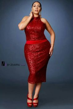 Plus Size Red Empire Waist Sheath Dress UNIQUE_WOMENS_FASHION ...