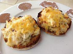 Crabwich, Open Face Crab Sandwich ~ on a toasted English Muffin