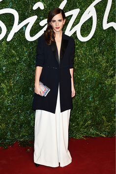 Emma Watson wearing Misha Nonoo at the 2014 British Fashion Awards