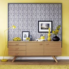 Framed wallpaper is a great way to bring in a busy print without having it overwhelm your entire room