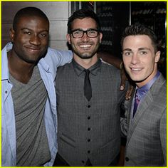 In Sydney with Sinqua Wells and Colton Haynes = hoechlin hot glasses  .