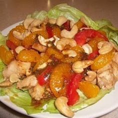 PEANUT BUTTER CHICKEN WITH MANDARIN CASHEW SALAD: Recipe | Just A Pinch Recipes