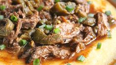 JALAPE�O SHREDDED BEEF AND POLENTA