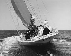 size: Photographic Print: Stern View of the Yankee : J Class Yacht, Catamaran Charter, Classic Yachts, Classic Sailing, Maritime Museum, Yacht Boat, Dinghy, Super Yachts, Black N White Images