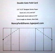 Double Gate Fold by stampur - Cards and Paper Crafts at Splitcoaststampers