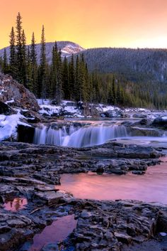 Elbow falls Sunset by Chris Greenwood*