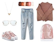 """""""sck"""" by lizatower on Polyvore featuring мода, Acne Studios, adidas Originals, NYX, Michael Kors и Louis Vuitton"""