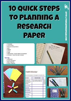 Learn 10 quick steps to plan out your research paper so you won't be stressing out about it during finals week! Set the stage for writing a great paper! Paper Writing Service, Writing Papers, Online Paper, College Essay, College Life, Journal Paper, Study Skills, Best Way To Study