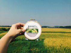 Sew Wanderlust: Designer, Teresa Lim, Embroiders Her Travels On-Site Instead Of Taking Photos