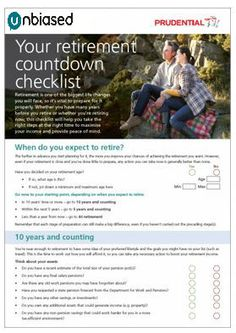 Your retirement countdown check list - we break down what  you can expect and prepare for in our easy to use guide
