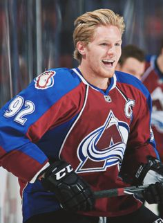 Gabriel Landeskog. Swedish NHL player for the Colorado Avalanche. Gabe the babe. Seriously.