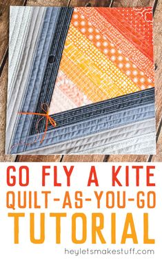 This Go Fly a Kite QAYG quilt block tutorial is perfect for a spring quilt! Includes the instructions to make this adorable quilt block. Quilting Tips, Quilting Tutorials, Machine Quilting, Quilting Projects, Quilting Designs, Sewing Projects, Crazy Quilting, Sewing Tips, Sewing Tutorials