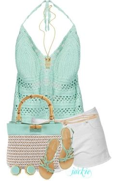 Halter, Shorts and Sandals