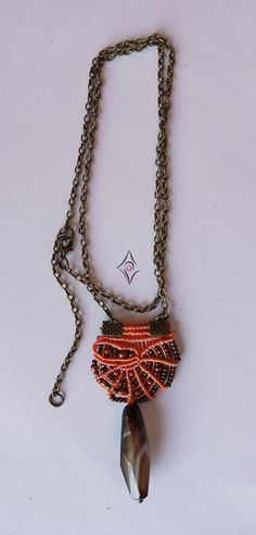 micromacrame necklace - seashell